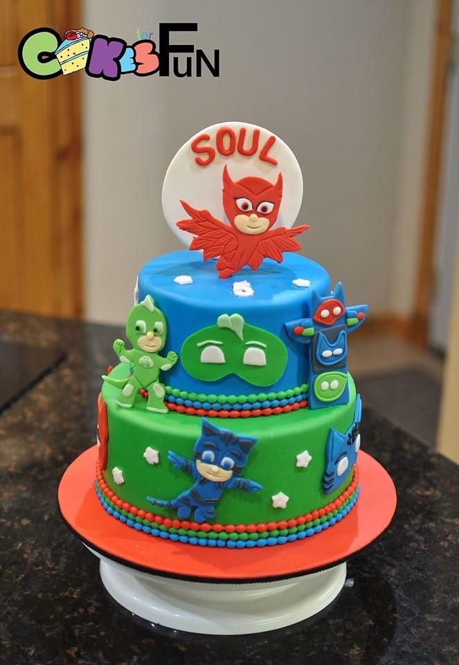 Pj Mask Birthday Cake Bsheridan1959 Flickr