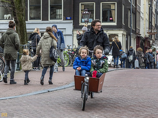 001 amsterdam cycling kids in a box 2 | by Eva Blue