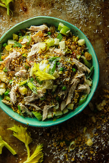 Curry Quinoa Salad with Chicken, apples and celery | by Heather Christo