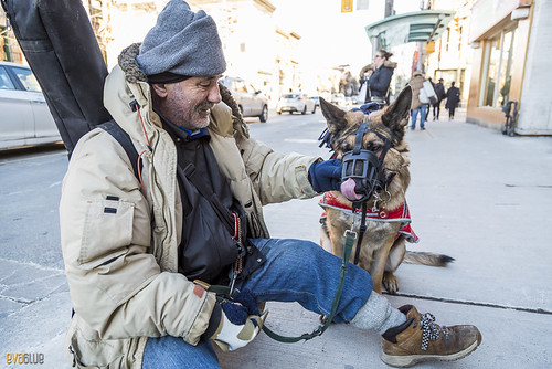 man and his dog toronto 1 | by Eva Blue
