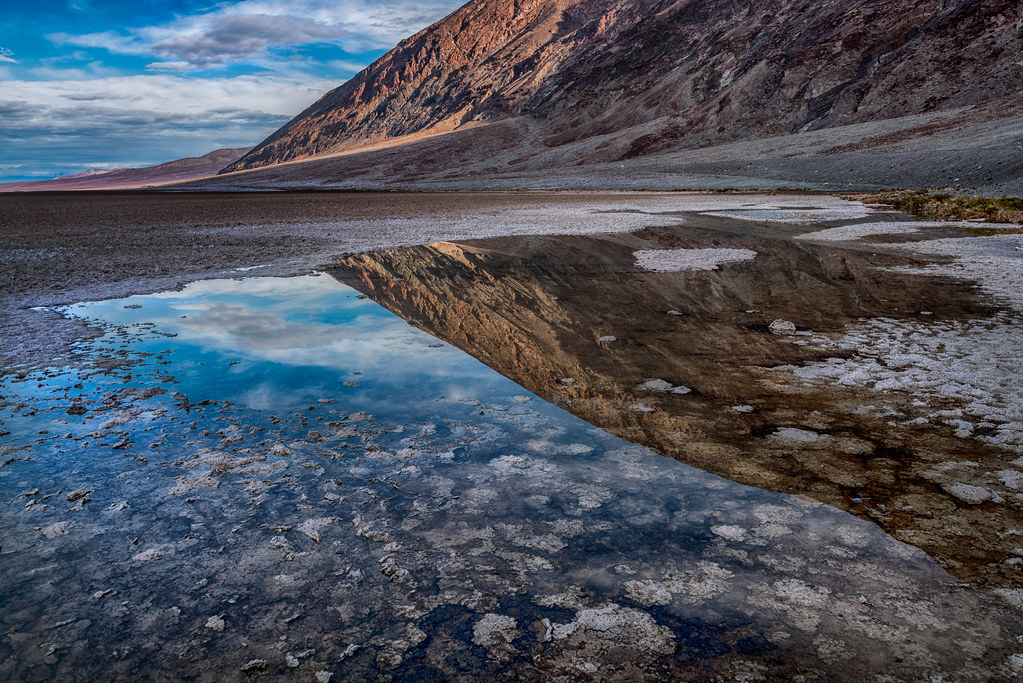 reflection at badwater basin death valley national park flickr