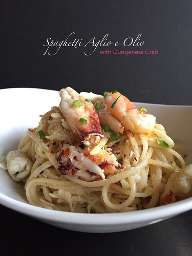 Spaghetti Aglio e Olio with Dungeness Crab | by The Culinary Chronicles