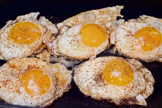 Black Bean Breakfast Tostadas Fried Eggs | by Chris Mower