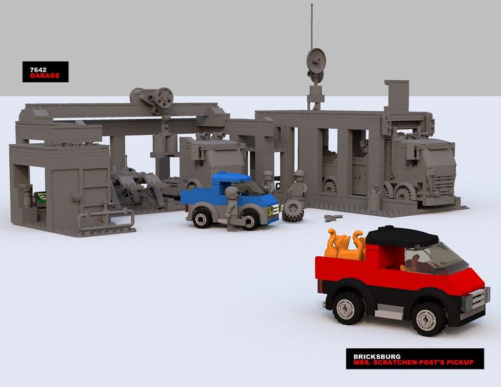 Movie Scratchenpost Pickup Lego Sherry Scratchen Flickr Garage 7642 By Xon 67
