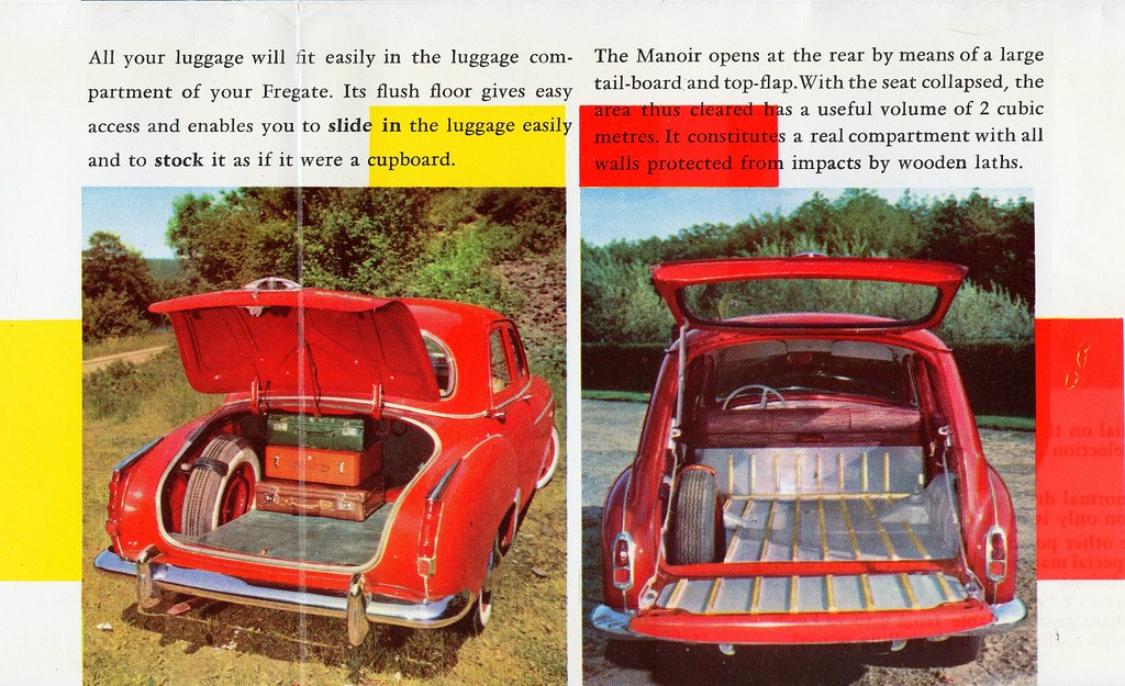 1959 Renault Fregate Manoir Luggage Compartments Flickr