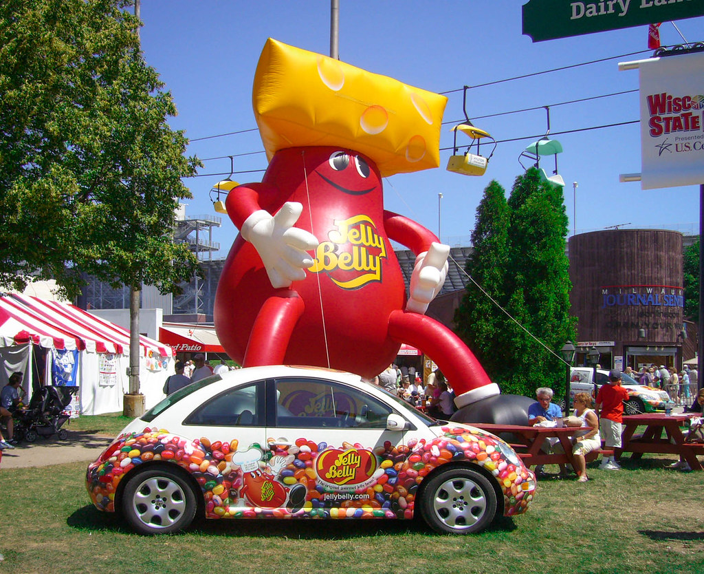VW Jelly Belly Beetle At Wisconsin State Fair 2006