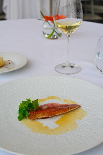 5th course: Salmonete con tirabqeues (red mullet) | by Fran Azafrán
