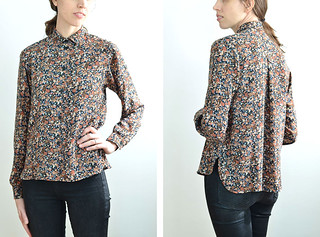 Black, Brown and Blue Floral Blouse | by imaginary animal