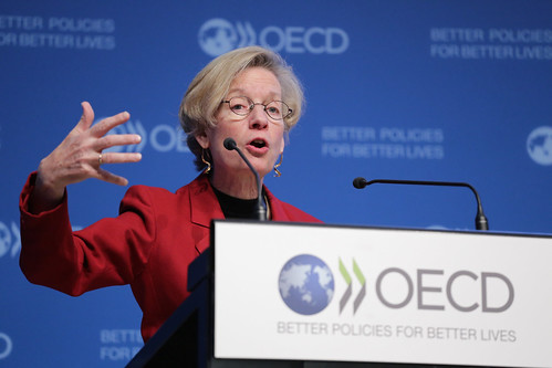 Press conference of the OECD's Interim Economic | by Organisation for Economic Co-operation and Develop