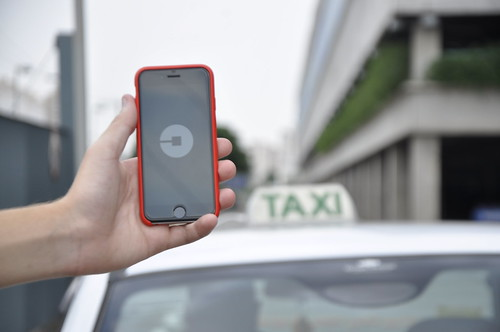 Uber e táxis em São Paulo