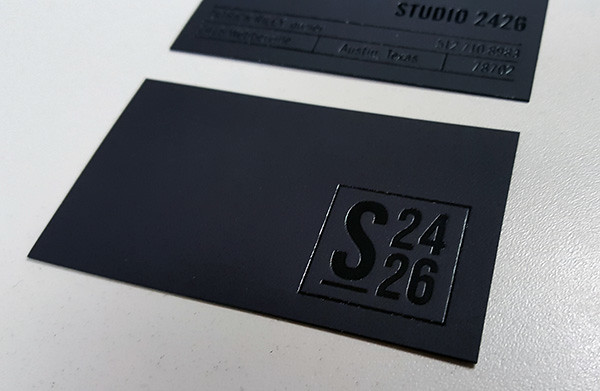 black foil stamped business cards by oubly - Foil Stamped Business Cards
