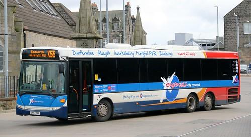 stagecoach fife 24001 sp57cne leaving dunfermline bus stat. Black Bedroom Furniture Sets. Home Design Ideas