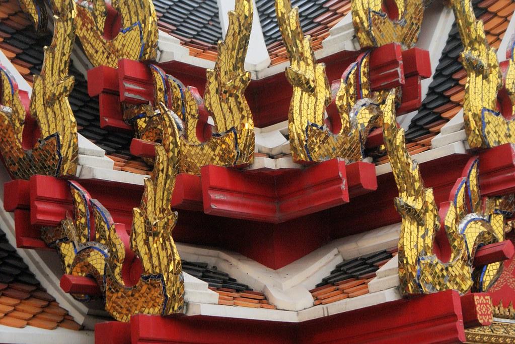 Autre détails décoratifs sur le temple Wat Pho à Bangkok.