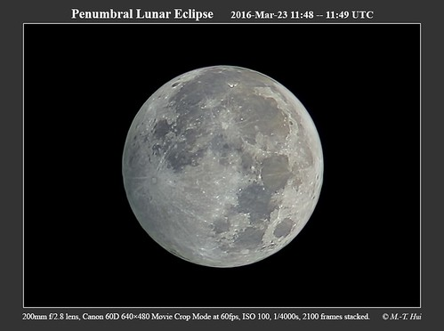 Penumbral Lunar Eclipse 2016-03-23 11:48 UTC | by Pachacoti