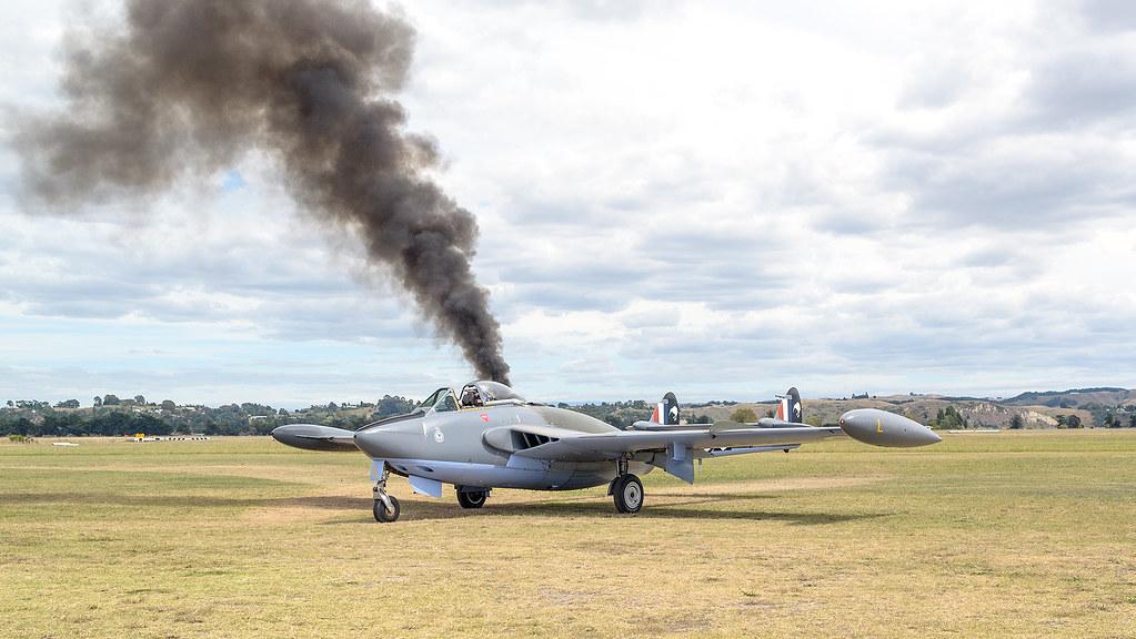 WE434, De Havilland Venom, , Art Deco Air Show, Napier, NZ… | Flickr