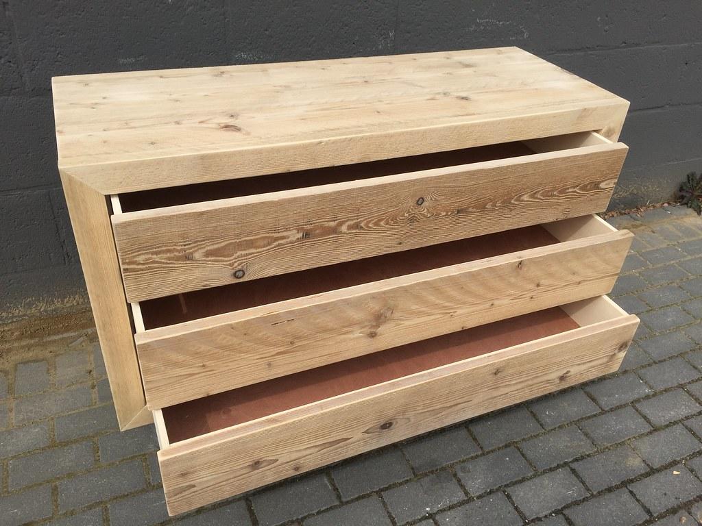 Badkamermeubel op maat softclose steigerhout hout vast venlo