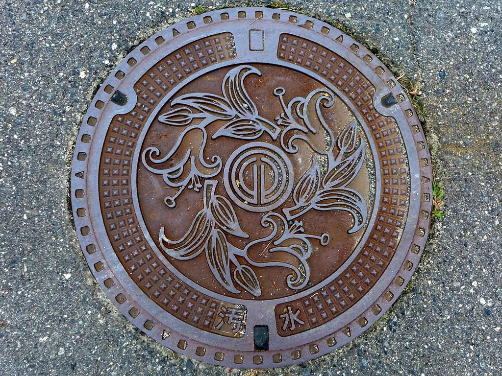 Geihoku Hiroshima, manhole cov...