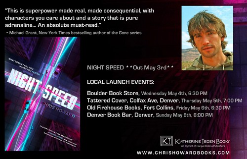 Denver Author  - CHRIS HOWARD - New Novel - NIGHT SPEED - MAY 3rd | by chrishowardbooks