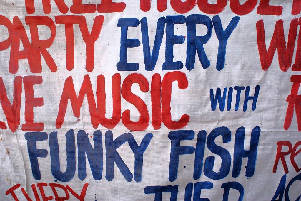 Affiche pour les concerts du Funky Fish à Koh Lanta.