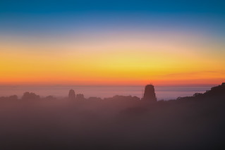Tikal Temple IV Sunset through the mist | by xoque