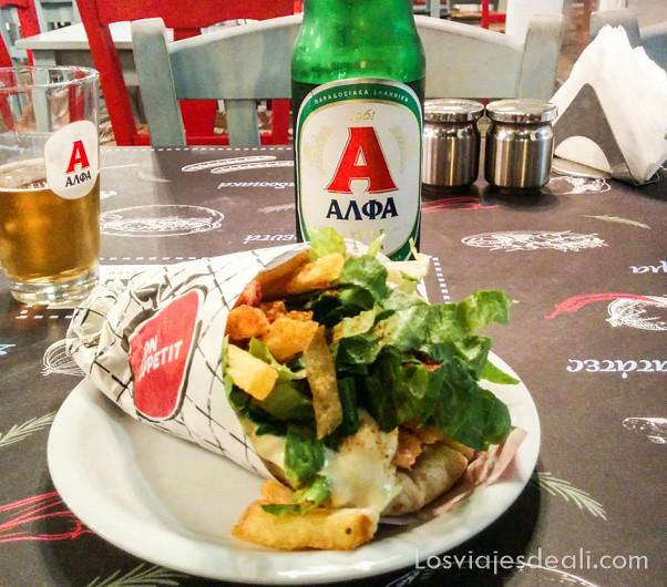gyros pita de la gastronomía griega