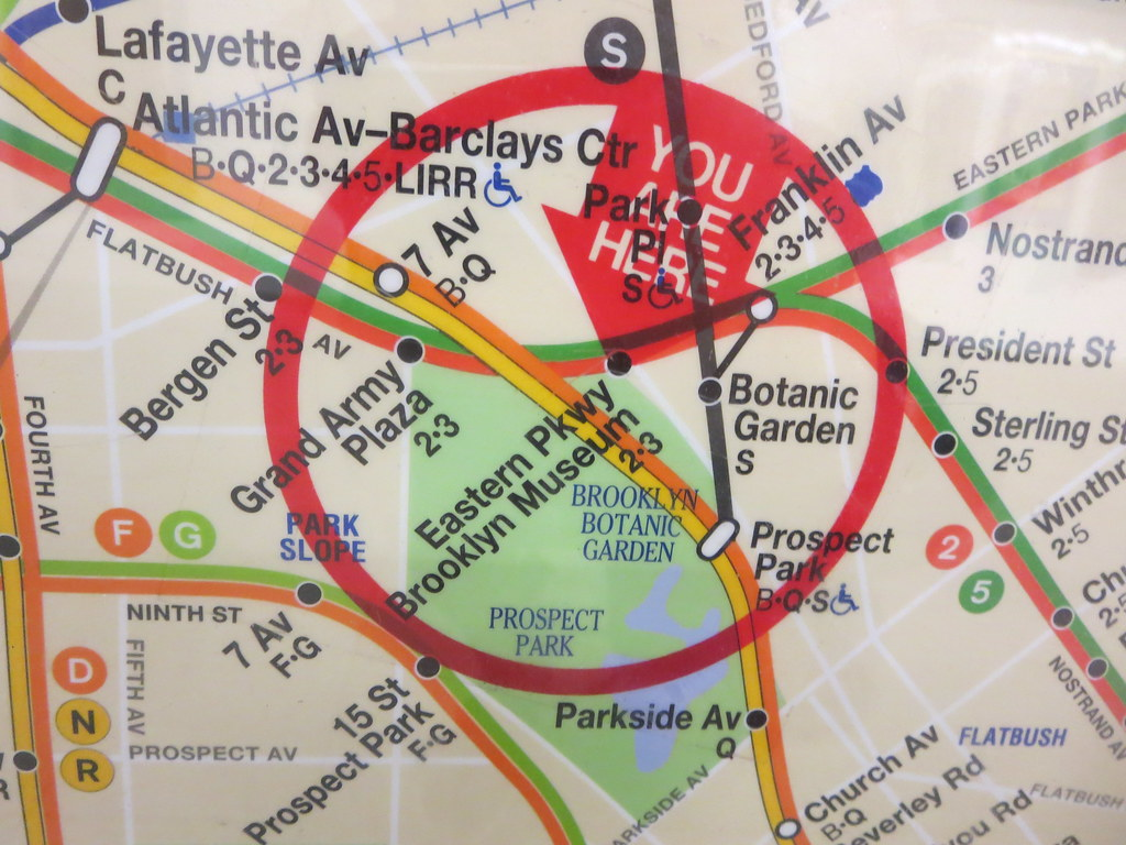 map to eastern parkway brooklyn museum subway station in nyc new york city usa