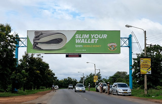 TNM advertising above police checkpoint along M1 north of Lilongwe | by Lars Plougmann