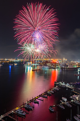 Baltimore City Fireworks, New Years Day 2016 | by Patrick Gillespie