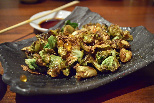 Brussel Sprouts with Ikura | by Gourmandj