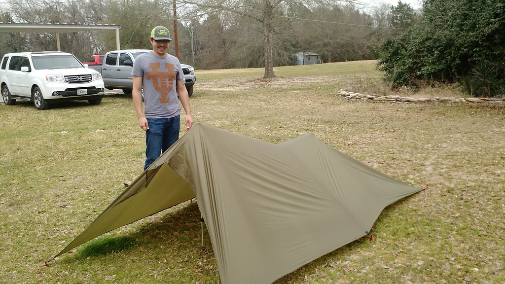 ... DIY ultralight tarp tent | by rjhyden & DIY ultralight tarp tent | My son Steven made me a Kifaru u2026 | Flickr