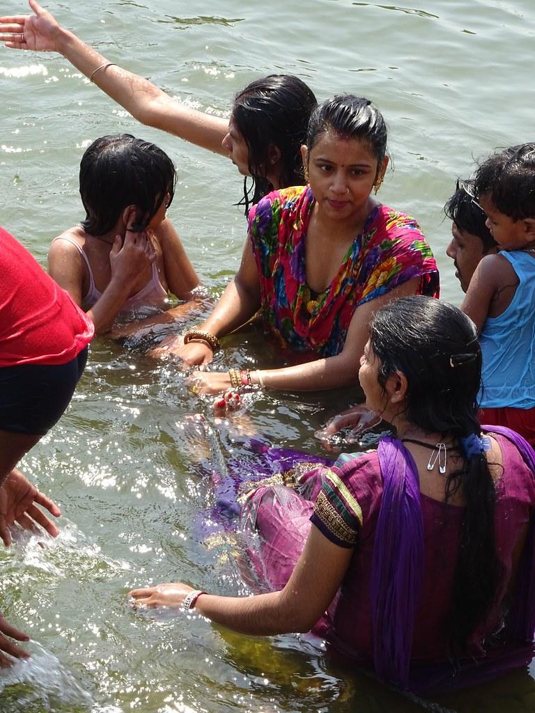 Indian Village Girl Bathing-4802