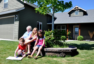 The Waddington Family outside their new home in Oregon | by USDAgov