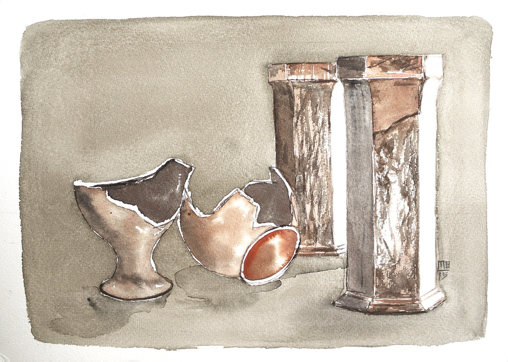 Broken Vase P1110944 Watercolor On Paper Milan Bhatt Flickr
