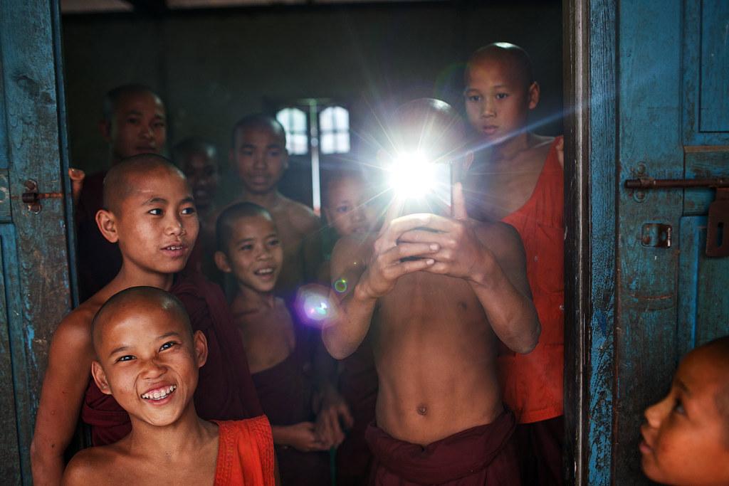 Monk Photographer - Lashio, Myanmar