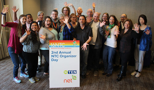 NetSquared organizers at the 2016 Nonprofit Technology Conference Organizer Day