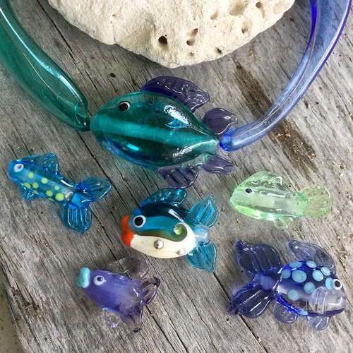 Glass fish for earrings and pendantswww.bahamadawn.com | by bahamadawn