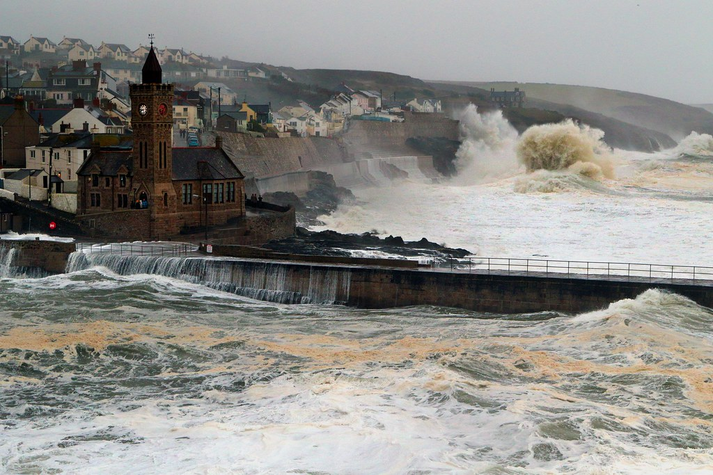 storm surge this is porthleven in west cornwall over the n flickr