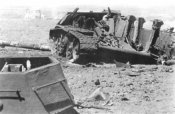 Wreck T 34 probably exploded amo ,1943 | Panzertruppen | Flickr