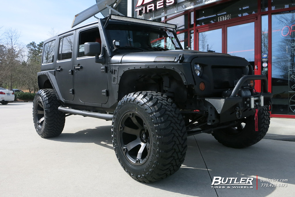 Charming ... Matte Black Jeep Wrangler With 20in Fuel Beast Wheels And Toyo MT Tires  With XRC Fenders