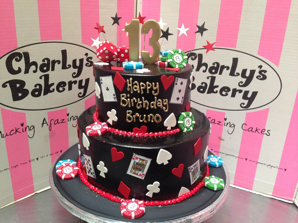 Casino Themed 2 Tier 13th Birthday Cake With Card Suits P Flickr