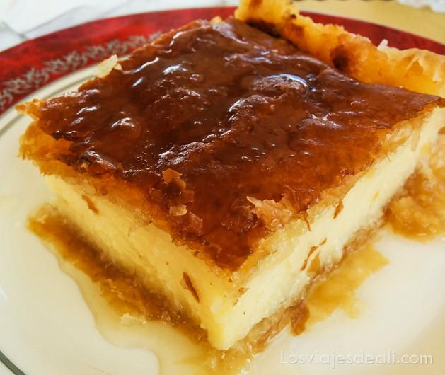 Gastronomía Griega tarta de queso