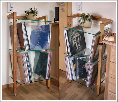 kundenfoto lp regal kirschbaum woodandmore produkte. Black Bedroom Furniture Sets. Home Design Ideas