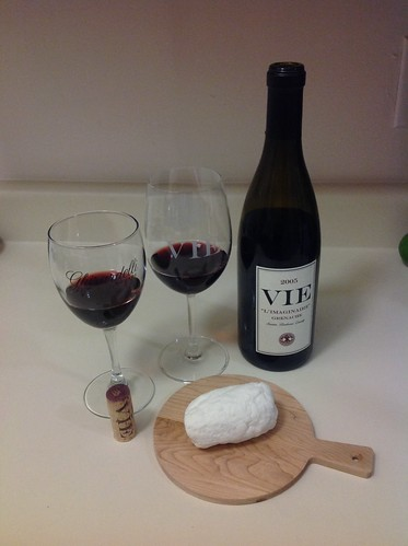 2005 L'Imaginaire Grenache and Homemade Goat Cheese 1