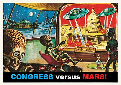 Congress Versus Mars, after after Wally Wood, Bob Powell, and Norman Saunders | by Mike Licht, NotionsCapital.com