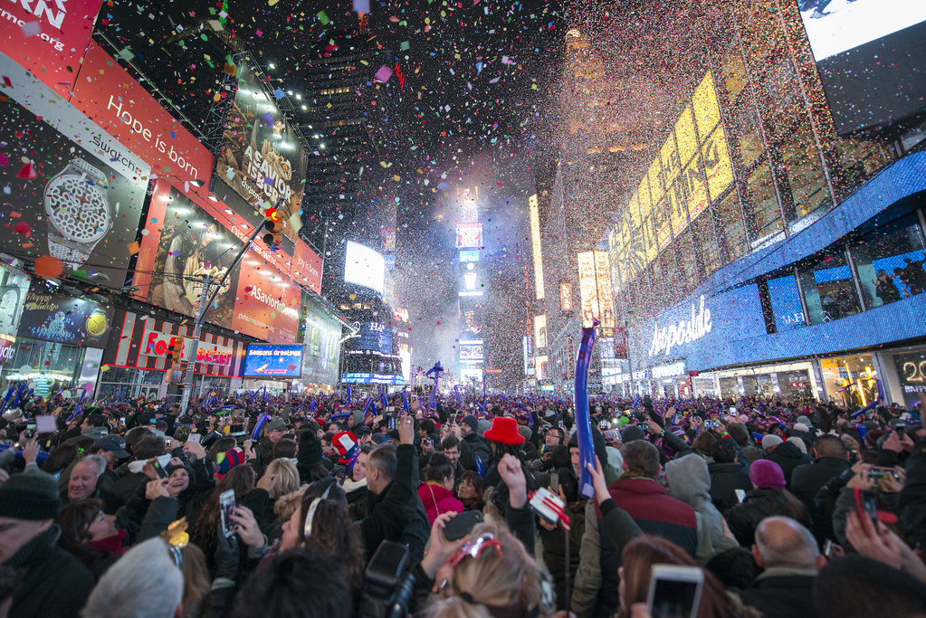 happy new year from times square by tony shi photos