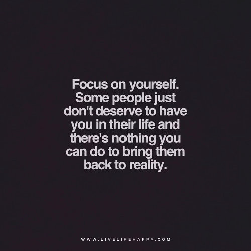 Focus On Yourself Live Life Happy Quote Focus On Yourself Flickr