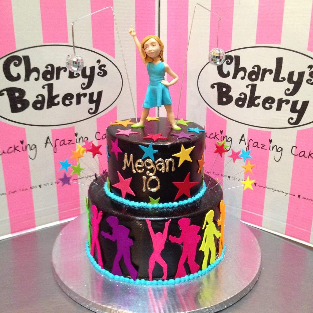 2 Tier Disco Dancing Themed Birthday Cake With 3d Figurine Flickr