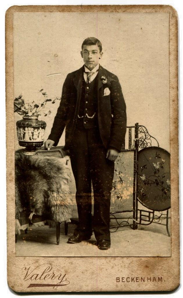 Young Man Carte De Visite Photograph