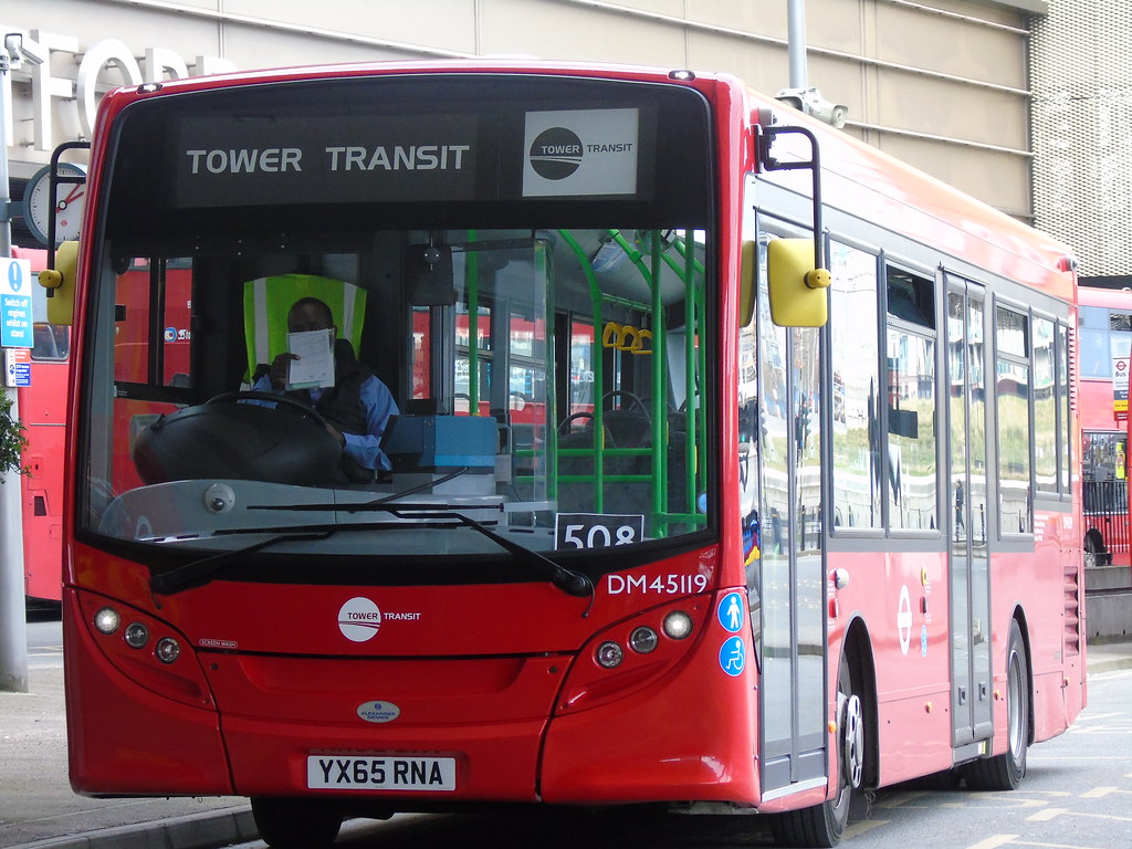 tower transit dm45119 (yx65rna) at stratford city | route … | flickr