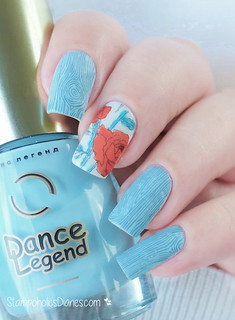 Dance Legend 342, Moyra stamping plates Florality 2 and Labyrinth Stamping | by nataschafrankfurt